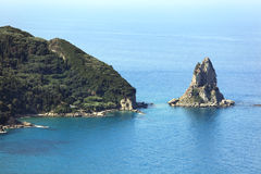 Corfu Island Coastline Royalty Free Stock Photos