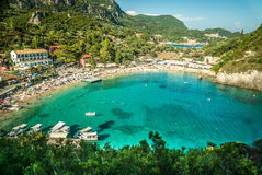 CORFU ISLAND, GREECE - August 10, 2014: Royalty Free Stock Photos