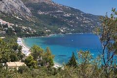Corfu island in Greece. Barbati bay at Corfu island in Greece Royalty Free Stock Images