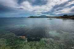 Corfu island, Greece. Clouds and sea, Corfu island, Greece Royalty Free Stock Photos