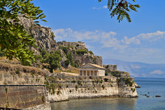 Corfu island in Greece stock images
