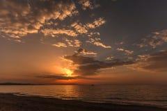Corfu island sunset Stock Images