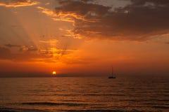 Corfu island sunset Royalty Free Stock Images