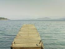 Corfu_Jetty Royalty-vrije Stock Afbeelding