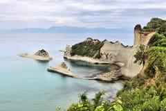Corfu krajobraz obrazy royalty free