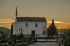 Corfu kyrka Arkivbild