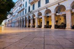 Corfu Liston Zdjęcie Stock