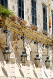 Corfu Liston Promenade architecture and details. Stock Photos
