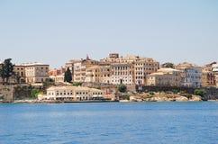 Corfu miasteczko, Grecja Zdjęcia Stock