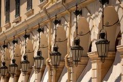 Corfu miasteczko, Grecja Obrazy Royalty Free
