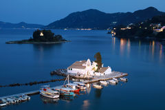 Corfu at night Royalty Free Stock Images