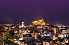 Corfu night landscape Royalty Free Stock Photography