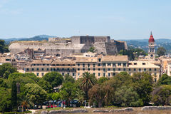 corfu nowy forteczny Greece Obrazy Royalty Free