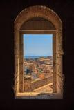 Corfu okno zdjęcie royalty free