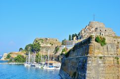 Corfu old fortress pictures - Corfu castle Stock Image