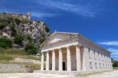 Corfu - Saint George Temple stock photo