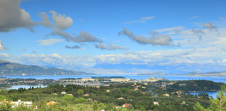 Corfu panorama royalty free stock photography