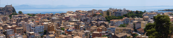 corfu panorama Greece Zdjęcia Stock
