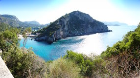 Corfu panoramic view Stock Images