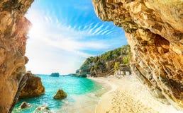 Corfu, Pelion, Mylopotamos obraz royalty free