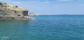 Corfu, Porto Timoni Afionas Beach royalty free stock photos