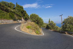 Corfu road stock photos
