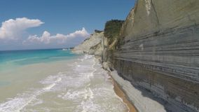 Corfu sandy beach stock video