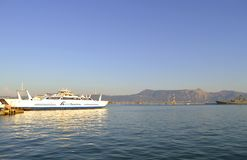Corfu schronienia 2 sposobu promy Zdjęcie Royalty Free
