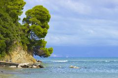 Corfu sea coast Stock Photos
