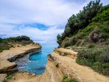 Corfu - Sidari coastline Stock Photos