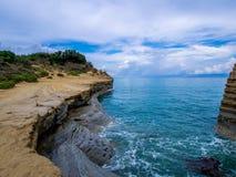 Corfu - Sidari coastline Royalty Free Stock Photo