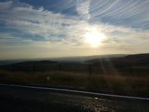 corfu solnedgång Arkivbild