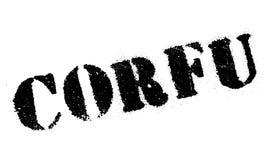 Corfu stamp rubber grunge Stock Images