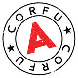 Corfu stamp rubber grunge Royalty Free Stock Photography