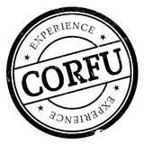 Corfu stamp rubber grunge Stock Photography