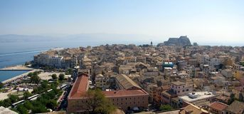 Corfu stary miasteczko. Obraz Royalty Free