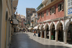 Corfu street Royalty Free Stock Photos