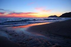Corfu sunset Stock Image