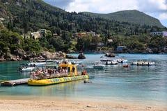 Corfu tour boat royalty free stock photos