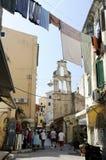 corfu town Royaltyfria Foton