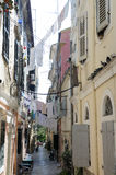 corfu town Arkivfoto