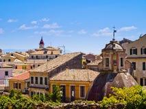 corfu town Royaltyfri Bild