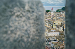 Corfu Town from above. Shot taken in Corfu Town, Greece, 2014 stock photography
