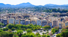 Corfu town aerial view, Corfu Island, Greece Stock Photography