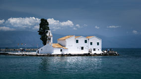 Corfu Town Chapel, Greece royalty free stock image