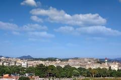 Corfu town cityscape Stock Photography