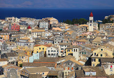 Corfu town in Greece Royalty Free Stock Images