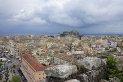 Corfu Town Greece on Corfu Island Royalty Free Stock Photos