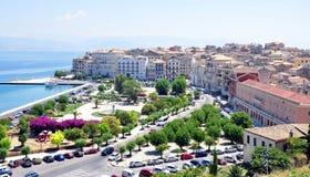 Corfu Town, Greece. View of the city of Corfu, Greece, island - Corfu Stock Photography