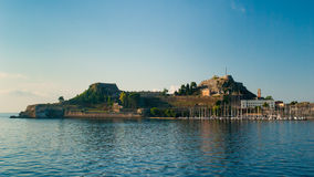 Corfu town - Greece. View from the sea Royalty Free Stock Image